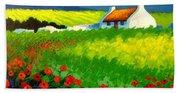 Poppy Field - Ireland Bath Towel