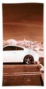 Porsche Car Side Profile Brown Near Infrared  Bath Towel