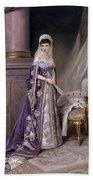 Portait Of Empress Maria  Fyodorovna Bath Towel