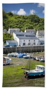 Porthleven Harbor - Low Tide Bath Towel