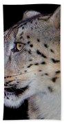 Portrait II Of A Snow Leopard Bath Towel