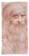 Portrait Of A Bearded Man Hand Towel