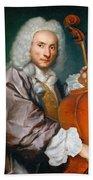 Portrait Of A Cellist Bath Towel
