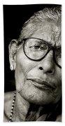 Portrait Of A Woman In Madurai Bath Towel