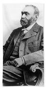 Portrait Of Alfred Nobel Bath Towel