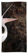 Portrait Of An Australian Pelican Bath Towel