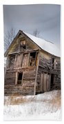 Portrait Of An Old Shack - Agriculural Buildings And Barns Hand Towel