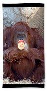 Portrait Of An Orangutan Bath Towel