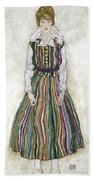 Portrait Of Edith Schiele, The Artists Hand Towel