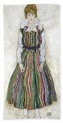 Portrait Of Edith Schiele, The Artists Bath Towel