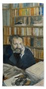Portrait Of Edmond Duranty, 1879 Bath Towel