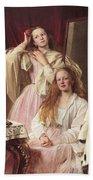 Portrait Of Emma And Frederica Bankes Bath Towel
