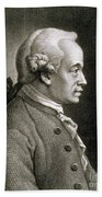 Portrait Of Emmanuel Kant Bath Towel