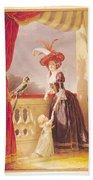 Portrait Of Louise-elisabeth De France 1727-59 Duchess Of Parma And Her Son Ferdinand 1751-1802 Bath Towel