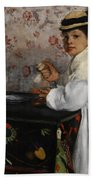 Portrait Of Mademoiselle Hortense Valpincon Bath Towel