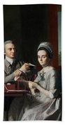 Portrait Of Mr And Mrs Thomas Mifflin Bath Towel