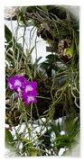 Portrait Of Orchids Bath Towel