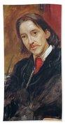 Portrait Of Robert Louis Stevenson 1850-1894 1886 Oil On Canvas Bath Towel