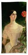 Portrait Of Sofia Andreyevna Shuvalova Bath Towel