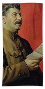 Portrait Of Stalin Bath Towel