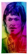 Rainbow Portrait Of Stevie Winwood Bath Towel