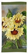 Portrait Of Sunflowers Bath Towel