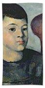Portrait Of The Artists Son Bath Towel