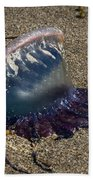 Portuguese Man-o War Beached Bath Towel