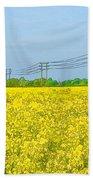 Power Lines In Innsworth Bath Towel