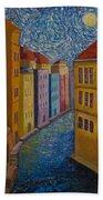 Prague A La Vangogh Bath Towel