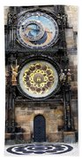 Prague Astronomical Clock Bath Towel