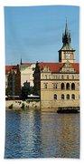 Prague East And Charles Bridge Bath Towel