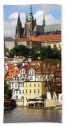 Prague Skyline Bath Towel