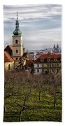 Prague View From The Gardens Hand Towel