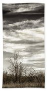 Prairie Winter Sky Bath Towel