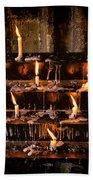 Prayer Candles Bath Towel