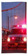 Prayer For Emergency Health Care First Responders Hand Towel