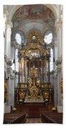 Praying At Munich Church Germany Bath Towel