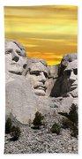 President Reagan At Mount Rushmore Bath Towel