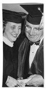 President Truman And Daughter Bath Towel