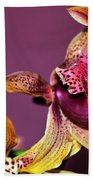 Pretty Orchid On Pink Hand Towel