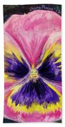 Pretty Pink Pansy Person Bath Towel