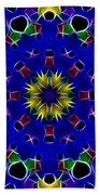 Primary Colors Fractal Kaleidoscope Bath Towel
