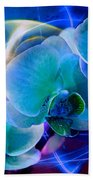 Prismatic Orchid Swirl Bath Towel