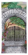 Private Garden At Sunset Bath Towel