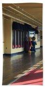 Promenade Deck Queen Mary Ocean Liner 01 Bath Towel