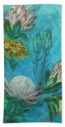 Protea Flower Study I Bath Towel