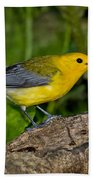 Prothonotary Warbler Bath Towel