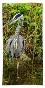 Proud Heron Bath Towel