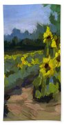 Provence Sunflower Field Bath Towel